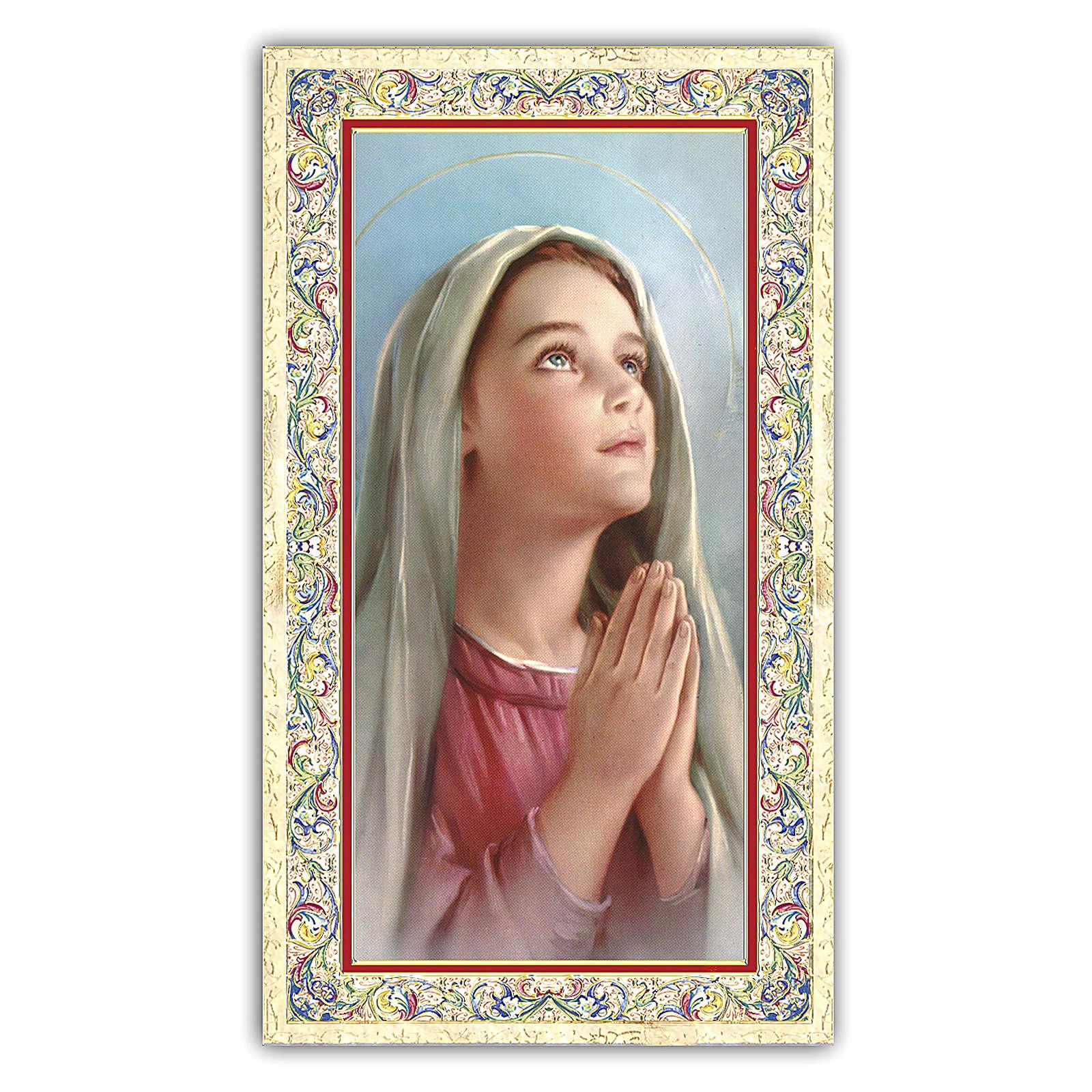 Santino Madonnina che prega 10x5 cm ITA 4