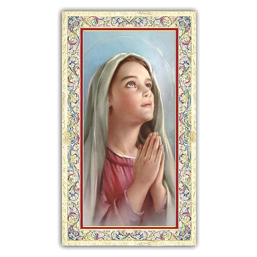 Santino Madonnina che prega 10x5 cm ITA 1