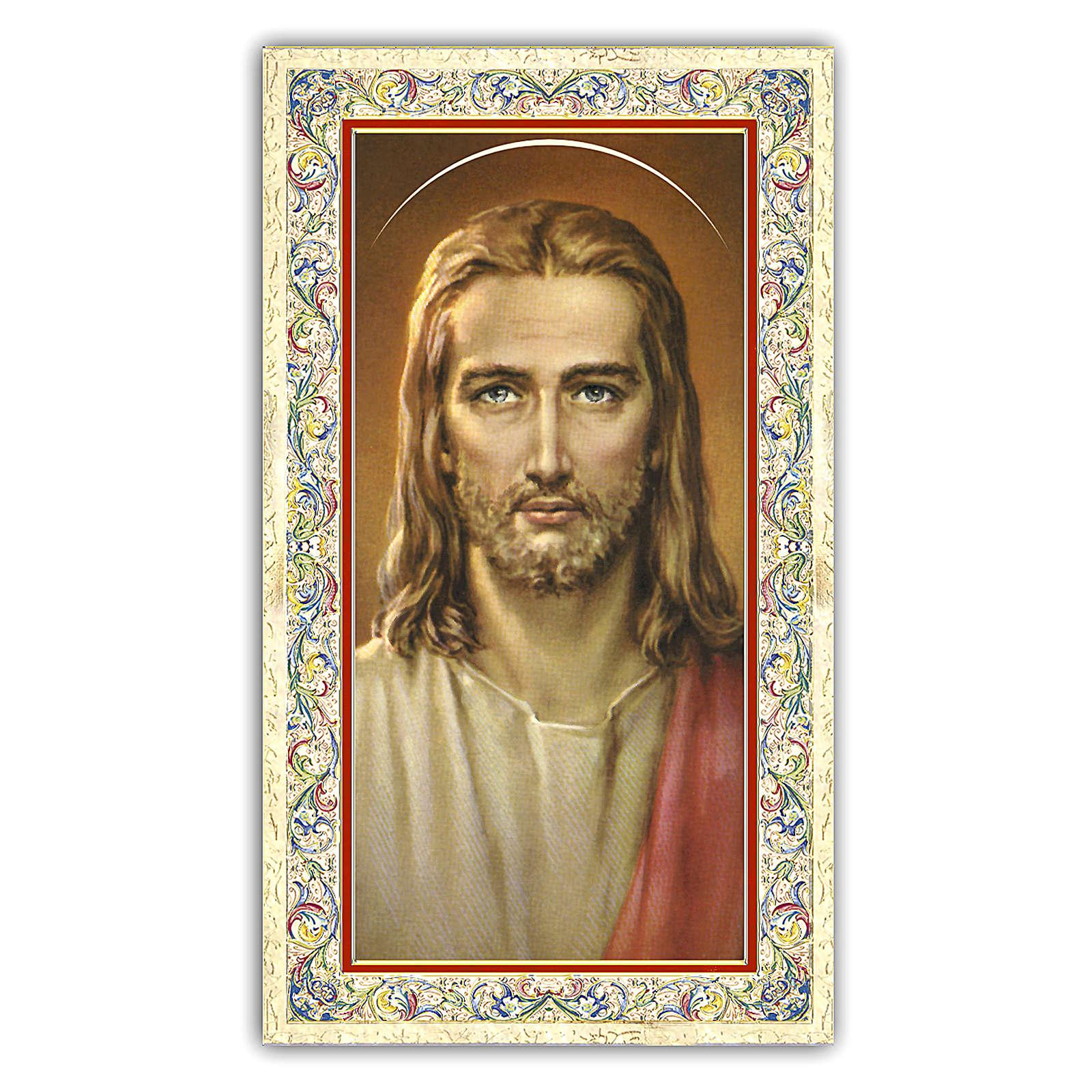 Estampa religiosa Rostro de Cristo 10x5 cm ITA 4