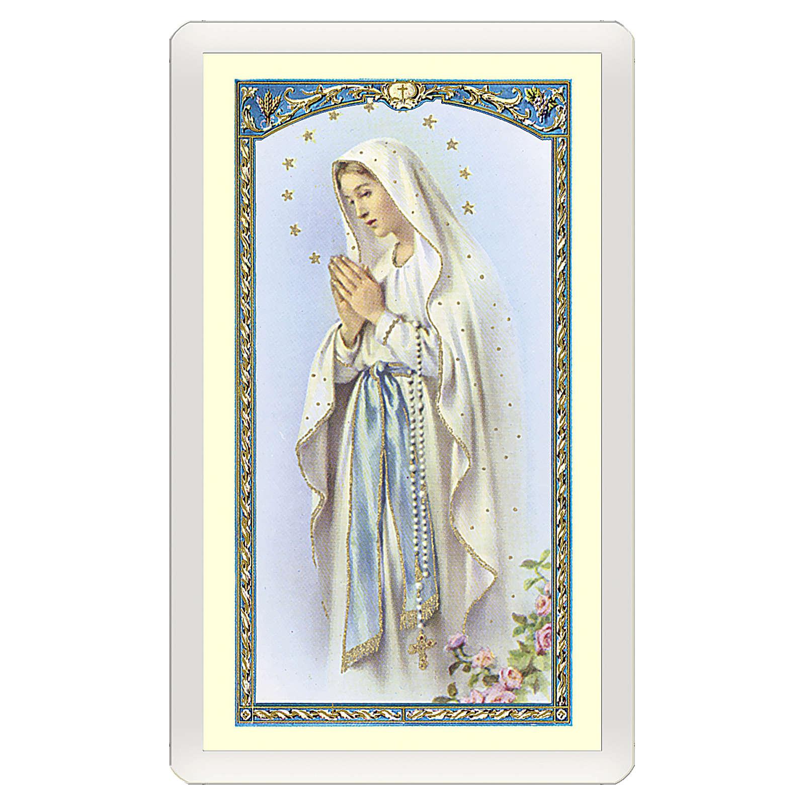 Santino Vergine di Lourdes Magnificat ITA 10x5 4