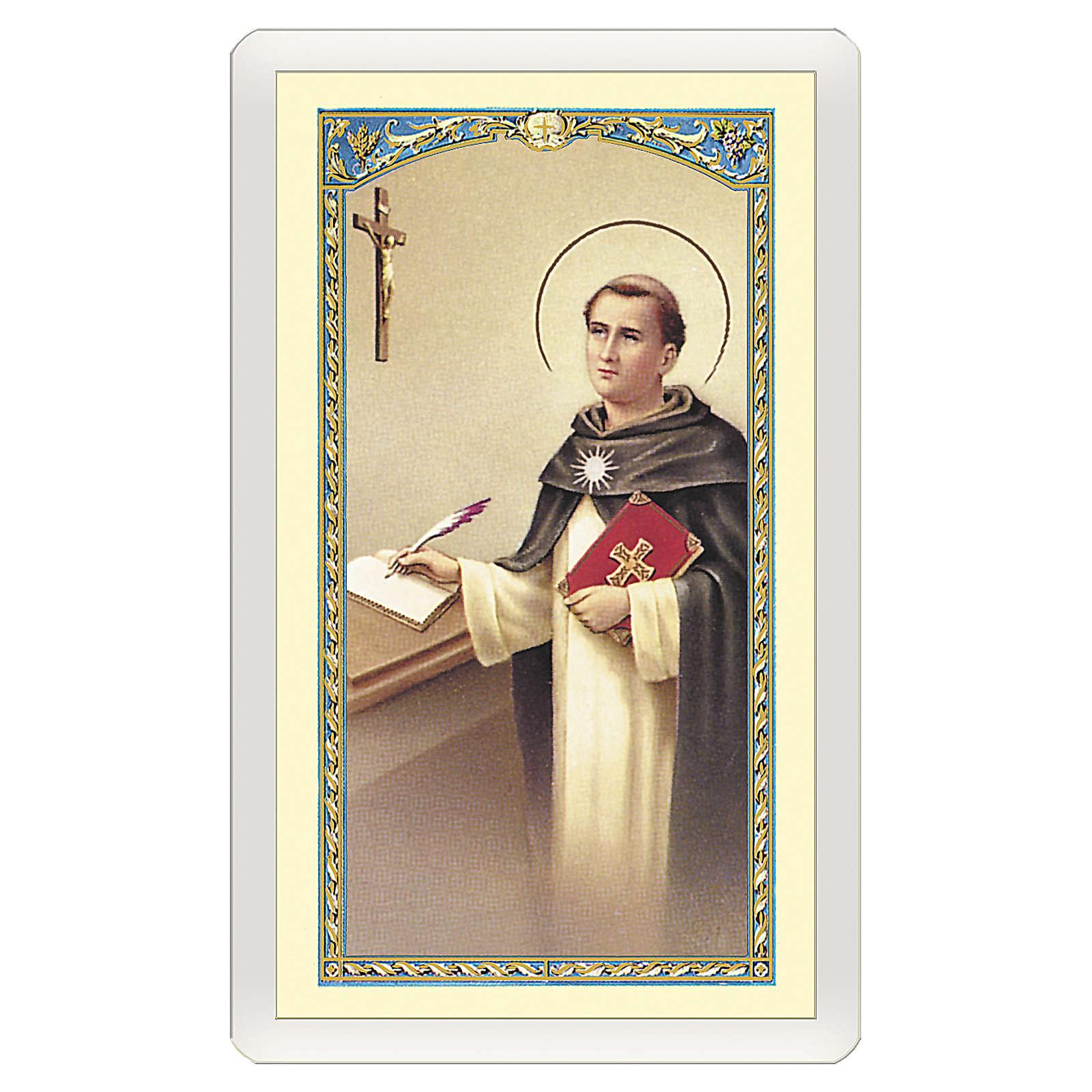 Santino San Tommaso d'Aquino Preghiera dello Studente ITA 10x5 4