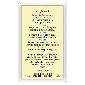 Estampa religiosa Anunciación a María Angelus ITA 10x5 s2