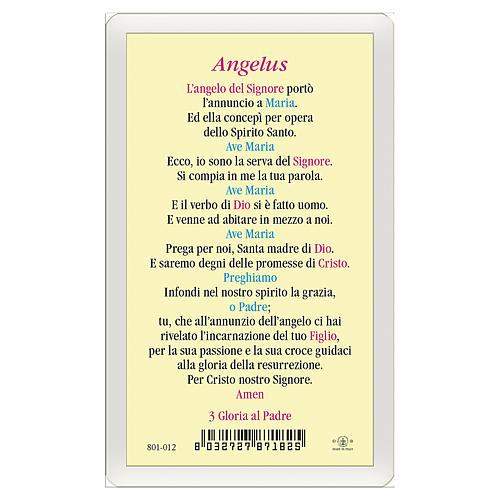 Estampa religiosa Anunciación a María Angelus ITA 10x5 2