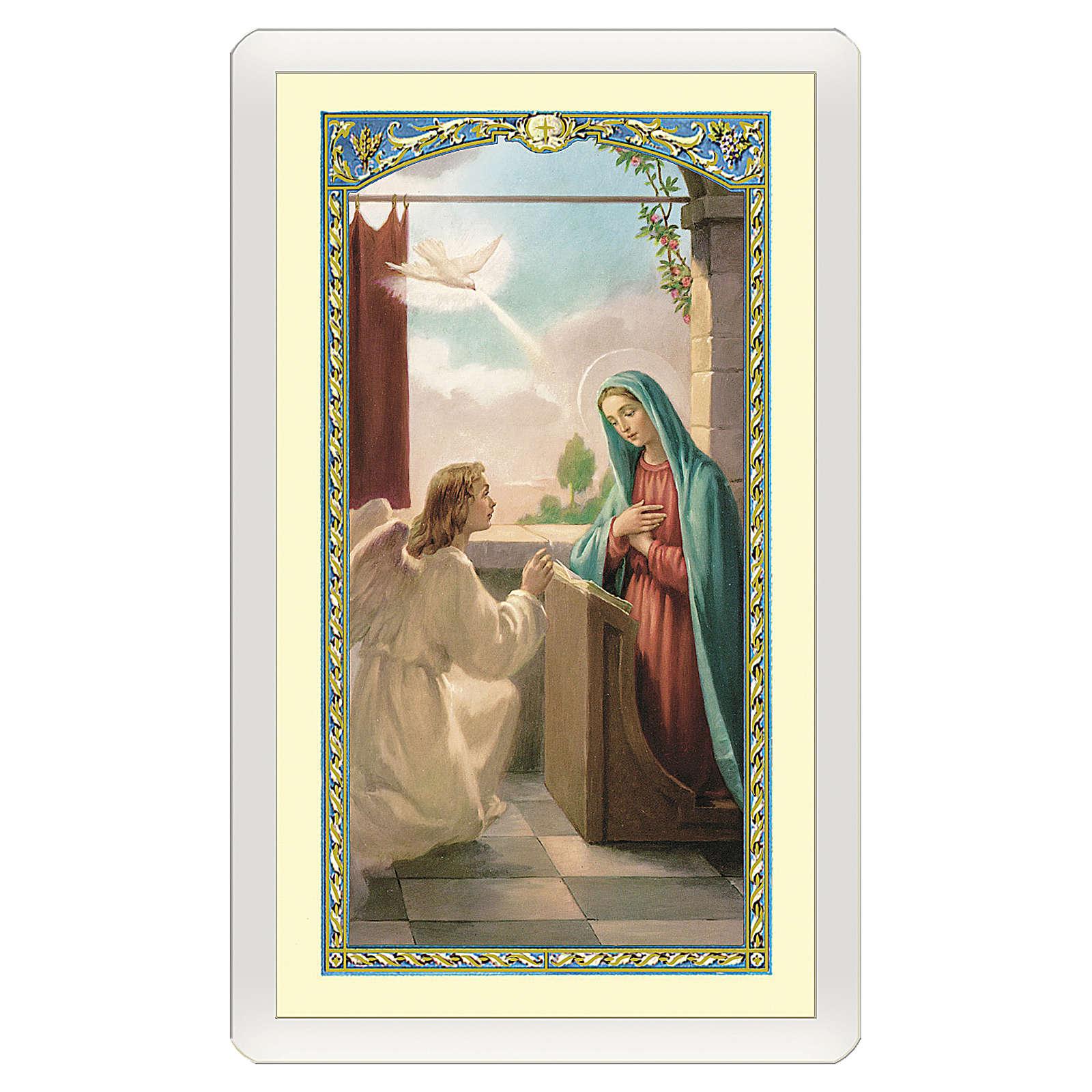 Santino Annunciazione a Maria Angelus ITA 10x5 4