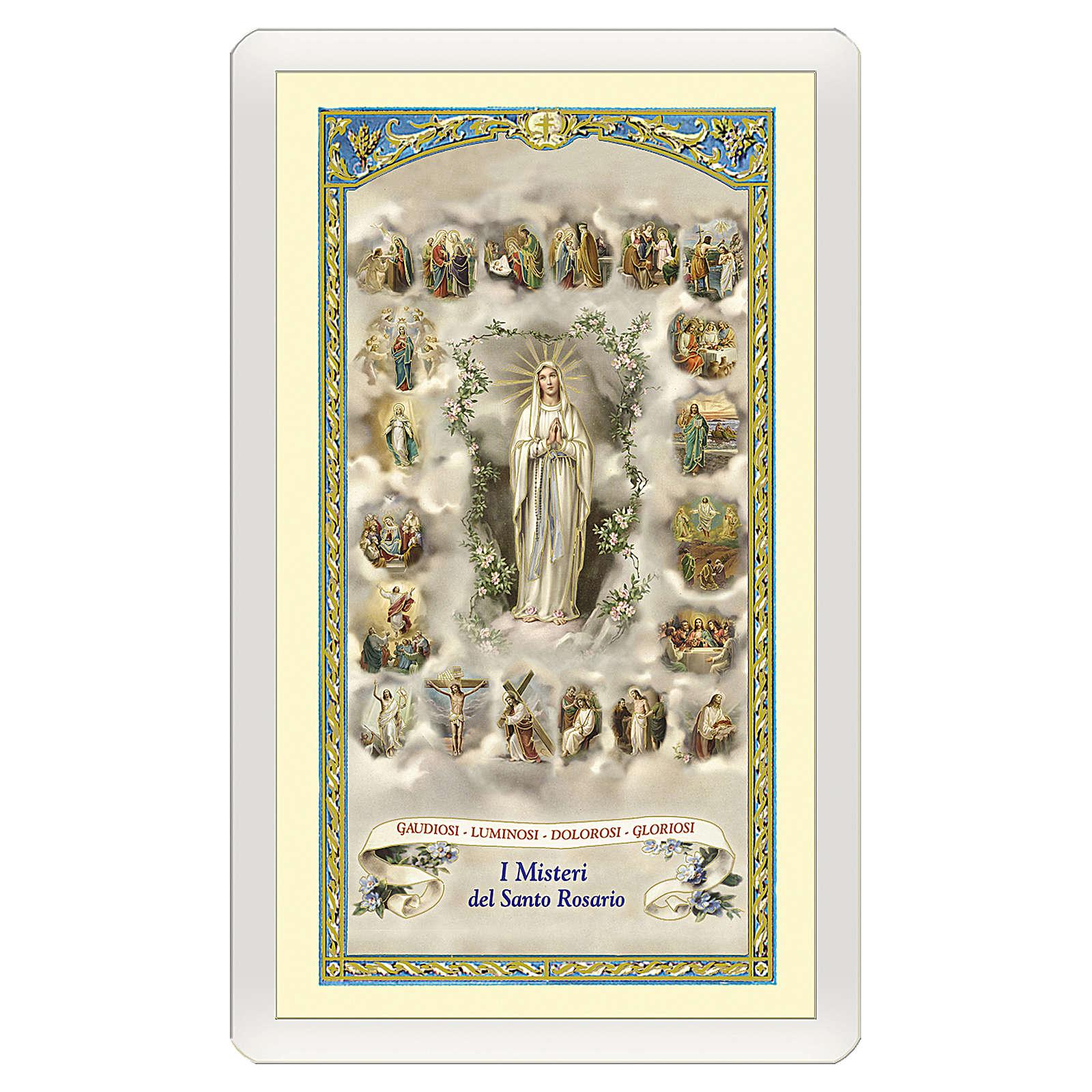 Santino Madonna del Rosario miniature 20 Misteri del Rosario ITA 10x5 4