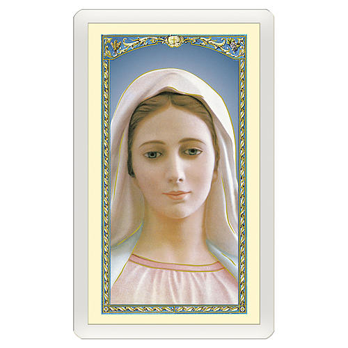 Holy card, Our Lady of Medjugorje, Prayer to the Mother of Goodness, Love and Mercy ITA, 10x5 cm 1