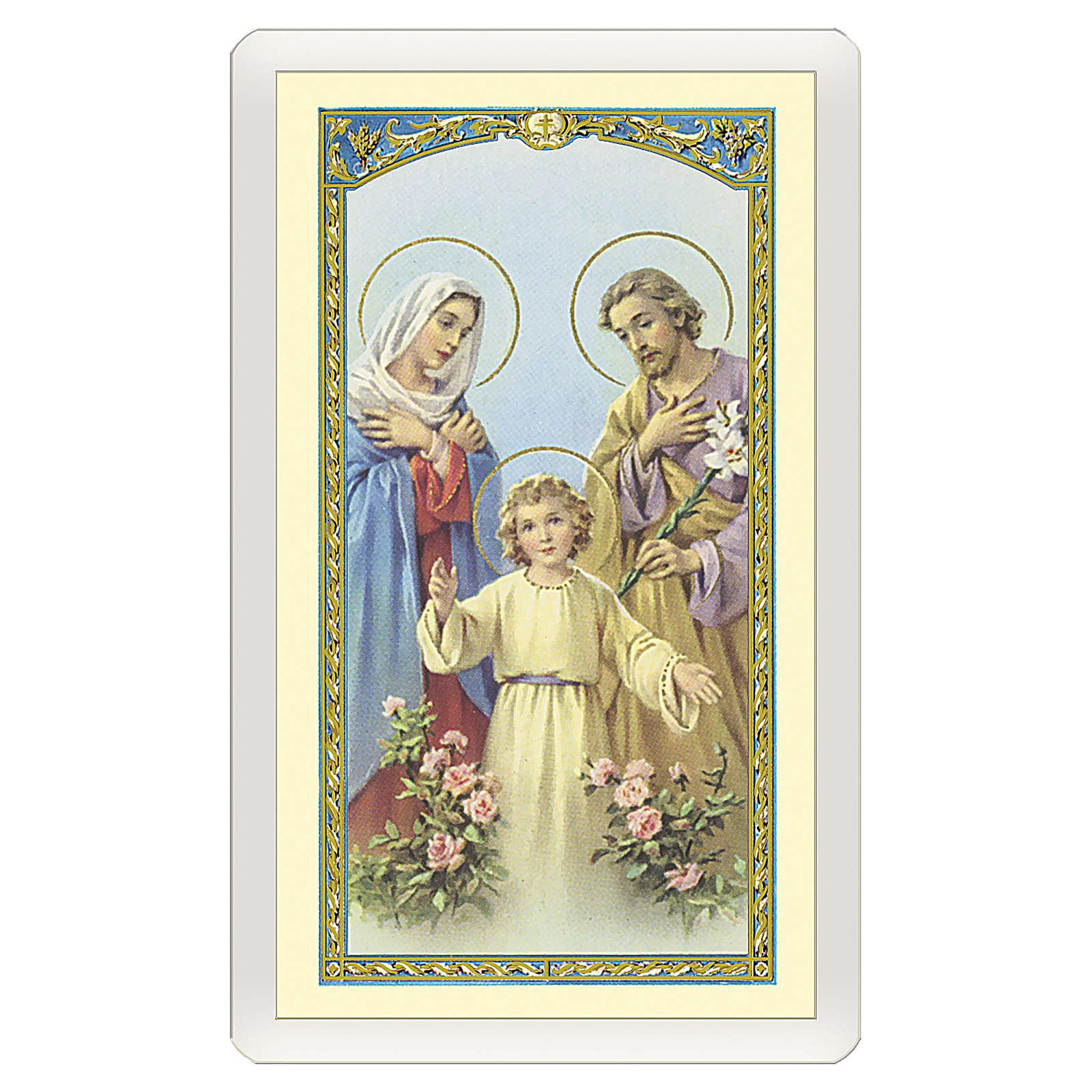 Santino Sacra Famiglia Decalogo della Famiglia ITA 10x5 4