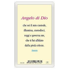 Santino Angelo Custode Angelo di Dio ITA 10x5 s2