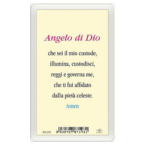 Santino Angelo Custode Angelo di Dio ITA 10x5 2