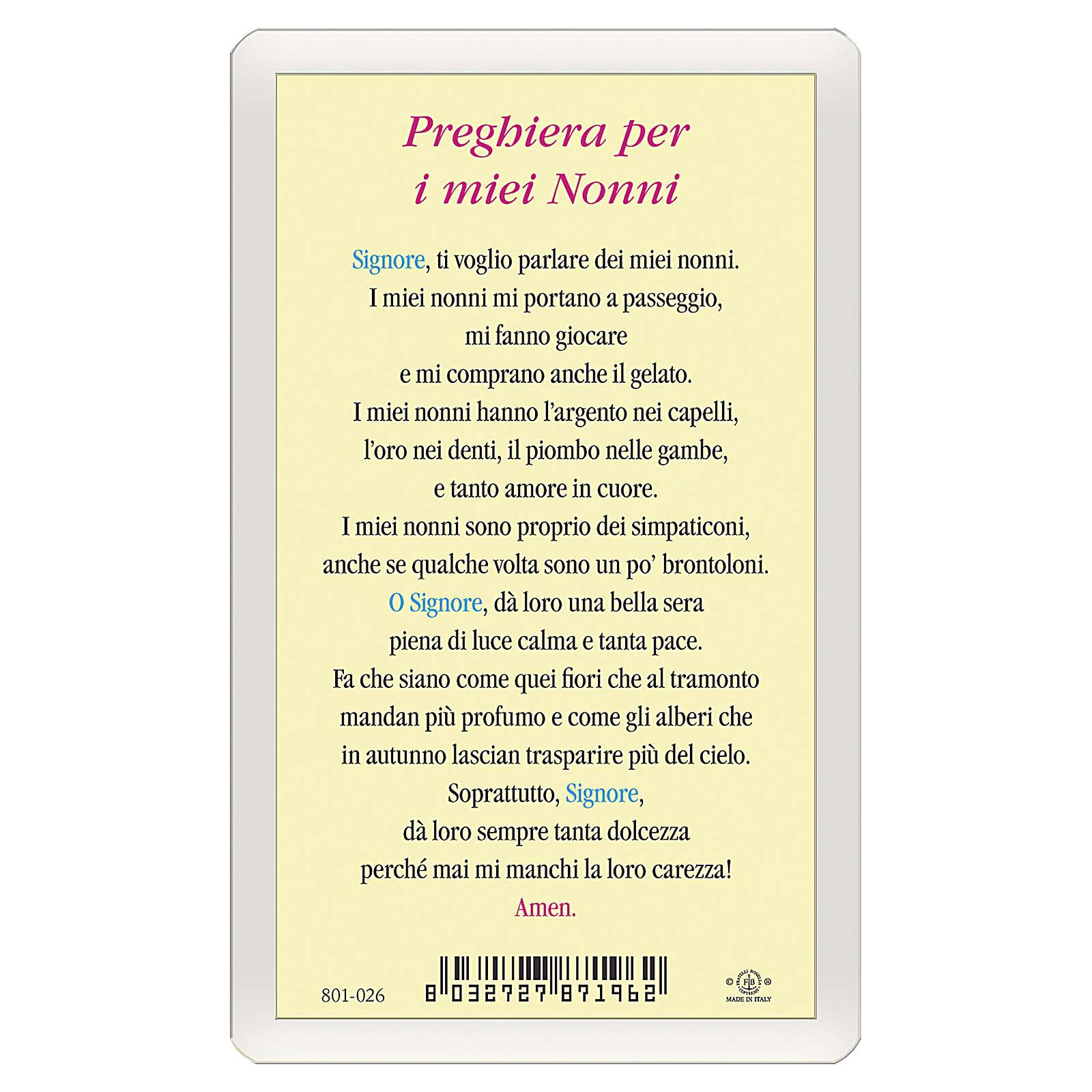 Santino Bambino Preghiera per i miei Nonni ITA 10x5 4