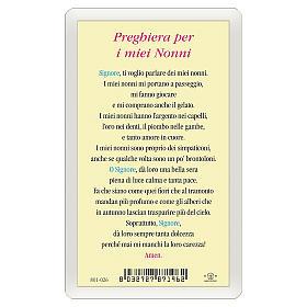 Santino Bambino Preghiera per i miei Nonni ITA 10x5 s2
