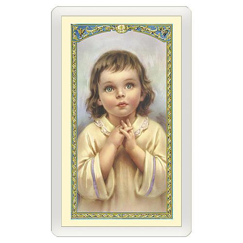 Santino Bambino Preghiera per i miei Nonni ITA 10x5 1