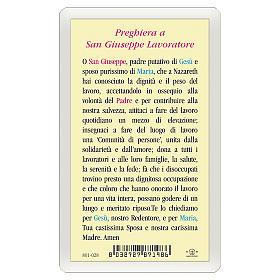 Holy card, Saint Joseph, Prayer to Saint Joseph the Worker ITA 10x5 cm s2