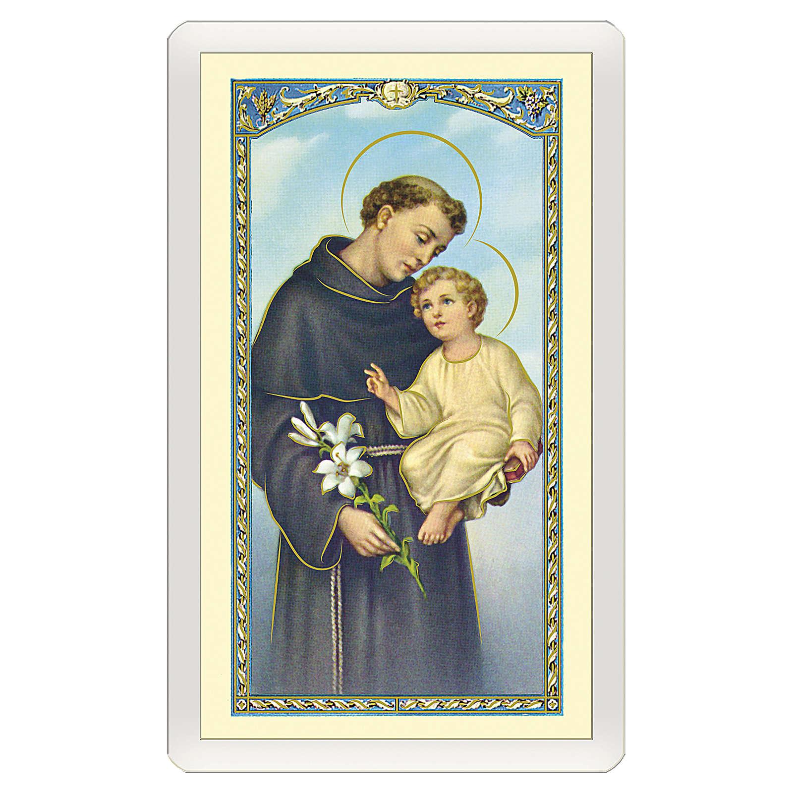 Holy card, Saint Anthony of Padua, Prayer to Saint Anthony ITA 10x5 cm 4