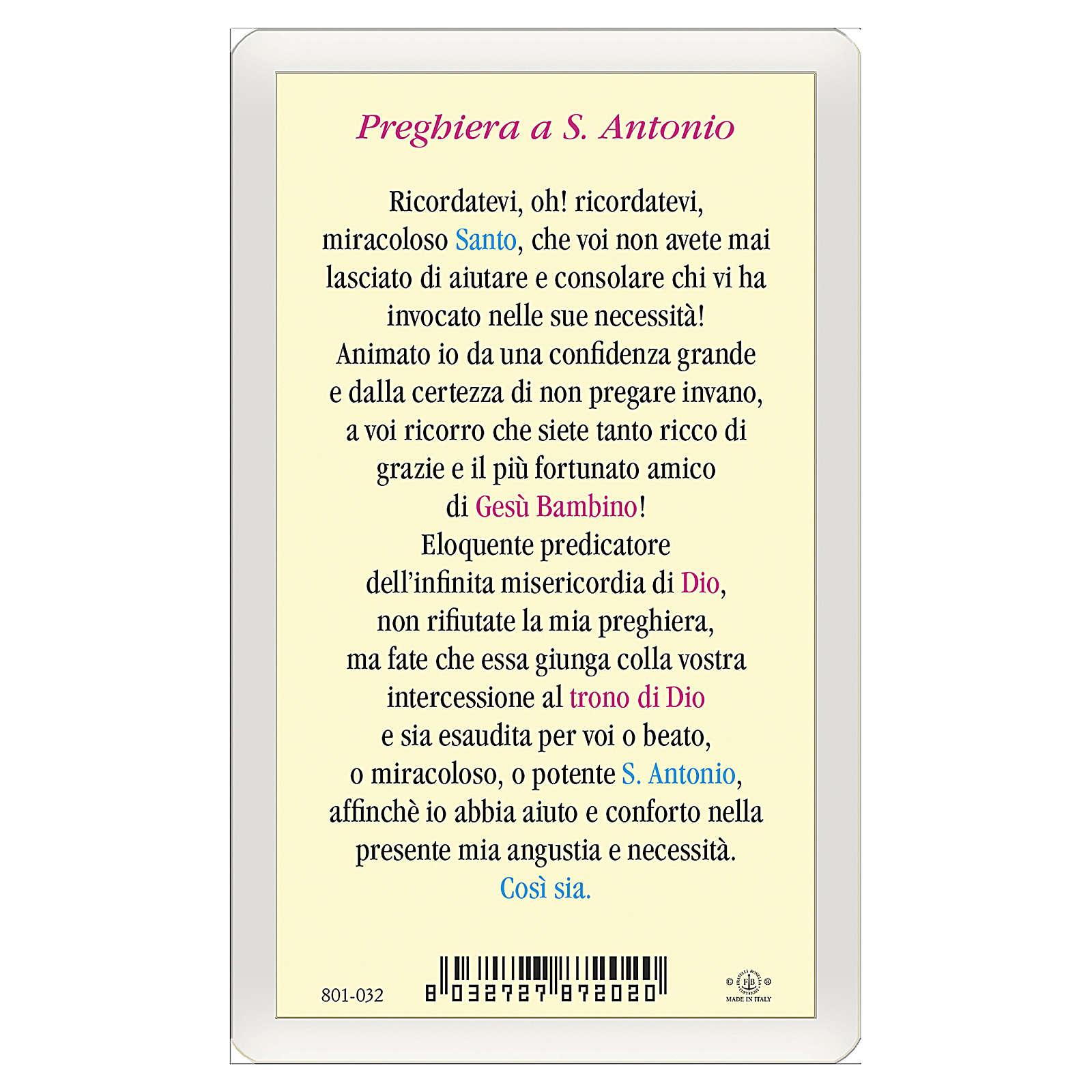 Obrazek Święty Antoni z Padwy Modlitwa IT 10x5 4