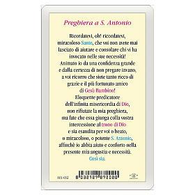 Obrazek Święty Antoni z Padwy Modlitwa IT 10x5 s2