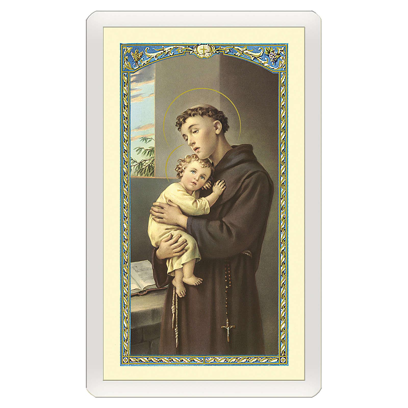 Santino Sant'Antonio da Padova Se Cerchi i Miracoli ITA 10x5 4