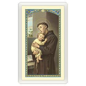 Santino Sant'Antonio da Padova Se Cerchi i Miracoli ITA 10x5 s1