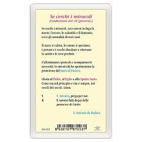 Santino Sant'Antonio da Padova Se Cerchi i Miracoli ITA 10x5 s2