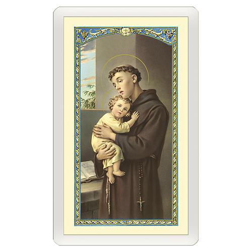 Santino Sant'Antonio da Padova Se Cerchi i Miracoli ITA 10x5 1