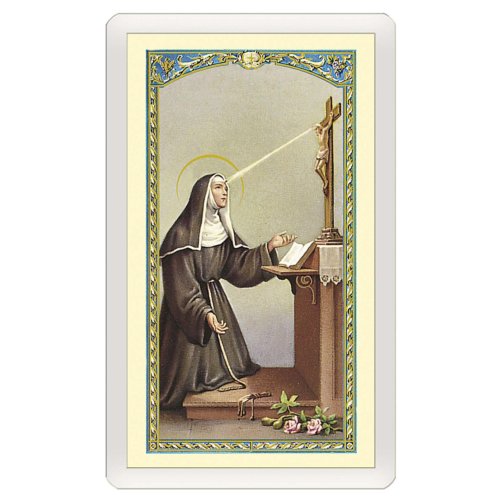 Santino Santa Rita da Cascia Preghiera a Santa Rita ITA 10x5 4