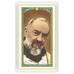 Holy card, Padre Pio, Prayer of Saint Pio ITA 10x5 cm s1