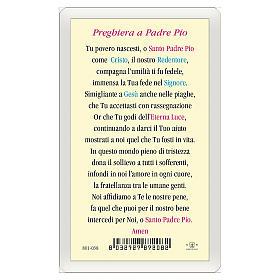Image votive Padre Pio Prière à Padre Pio ITA 10x5 cm s2
