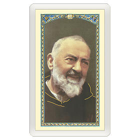 Santino Padre Pio Preghiera a Padre Pio ITA 10x5 s1