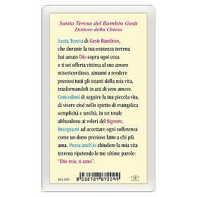 Santino Santa Teresa del Bambin Gesù Dottore della Chiesa ITA 10x5 s2