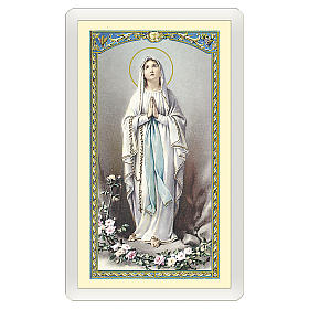 Santini: Santino Madonna di Lourdes Novena alla Vergine di Lourdes ITA 10x5
