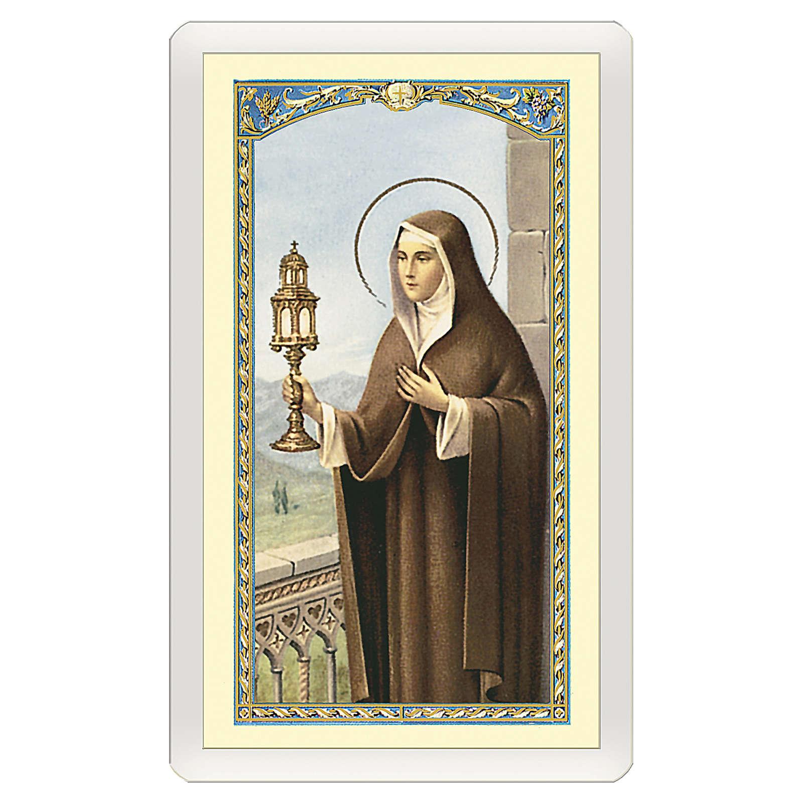 Santino Santa Chiara Preghiera ITA 10x5 4