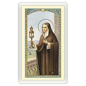 Santino Santa Chiara Preghiera ITA 10x5 s1