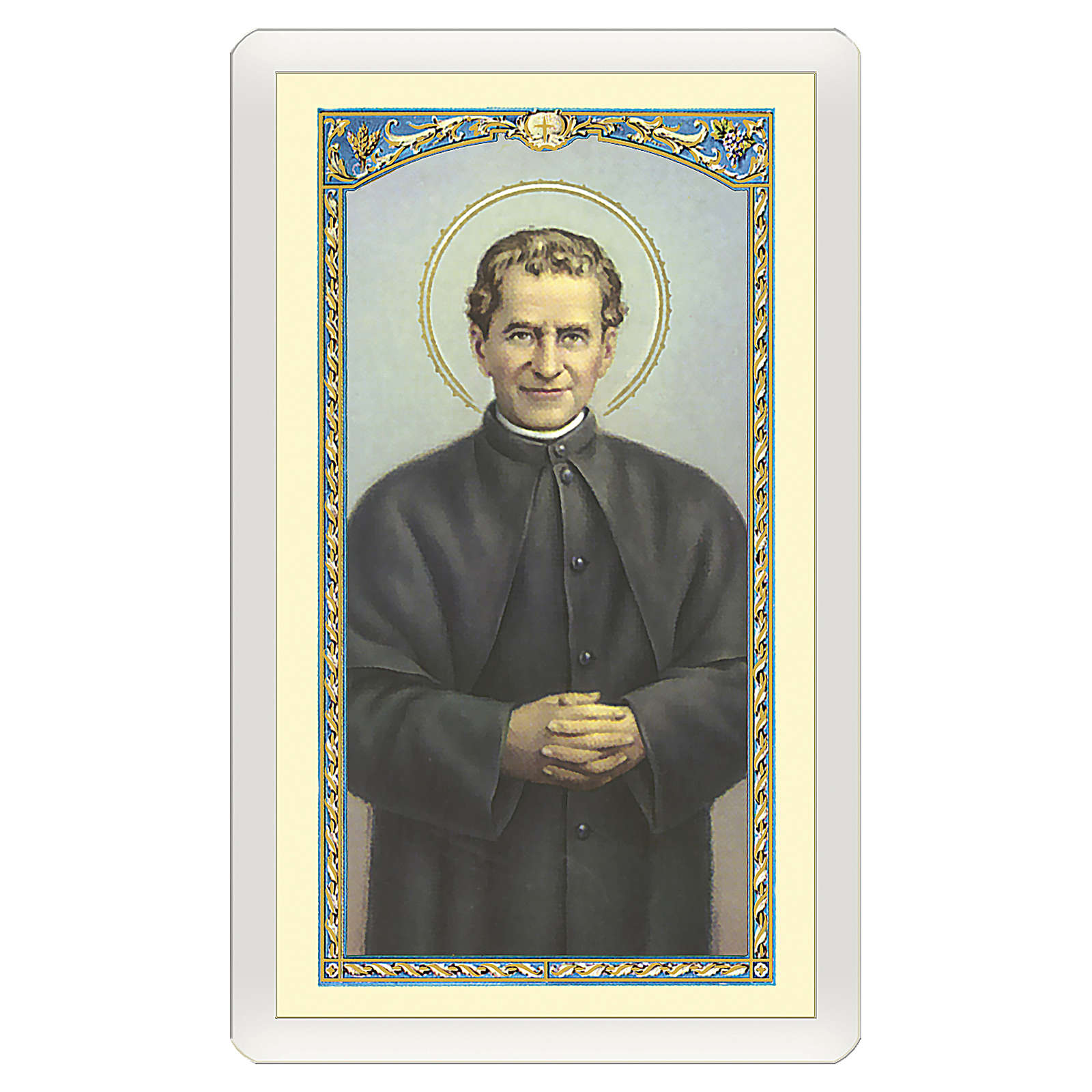 Image votive St Jean Bosco Prière de Don Bosco ITA 10x5 cm 4