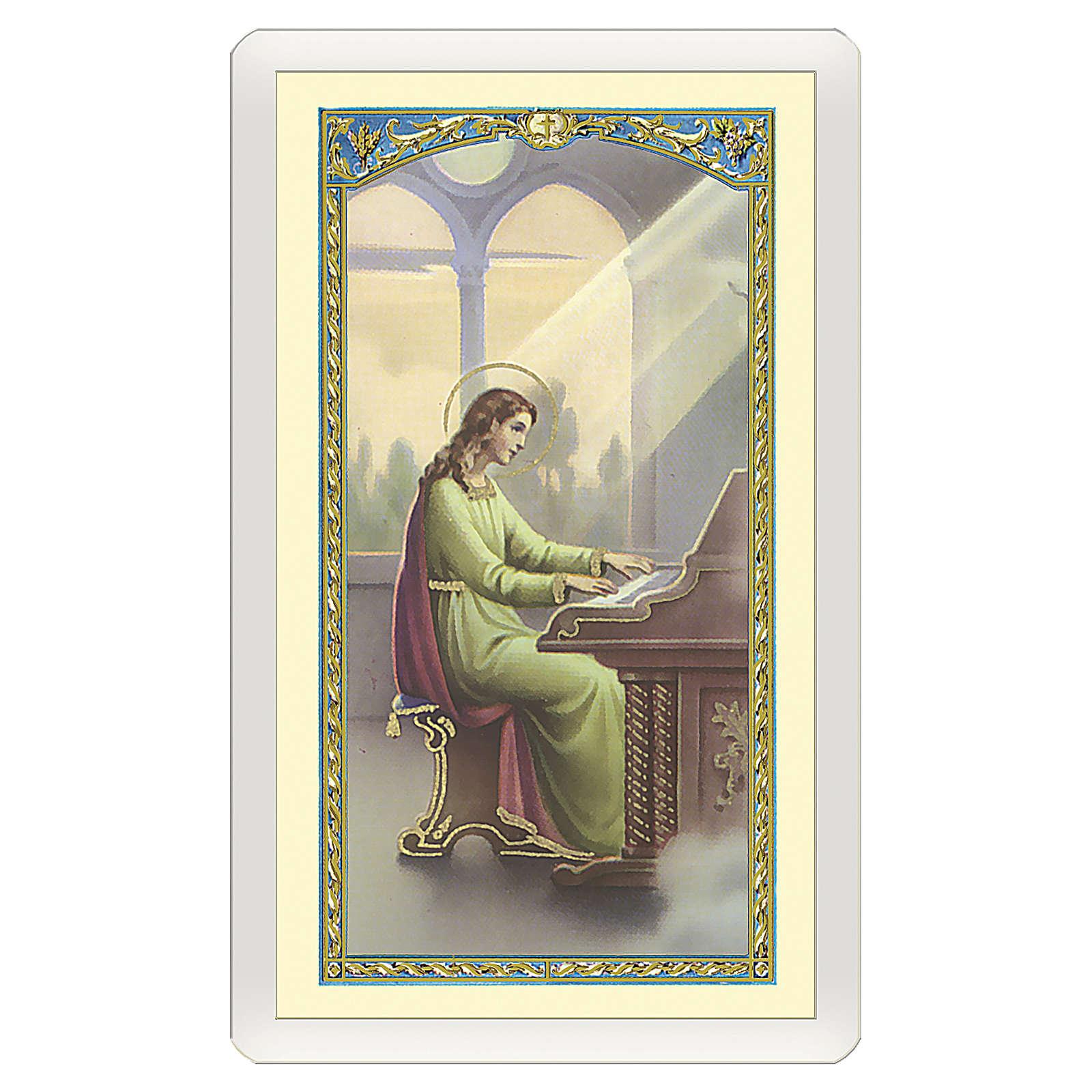 Santino Santa Cecilia Preghiera del Musicista ITA 10x5 4