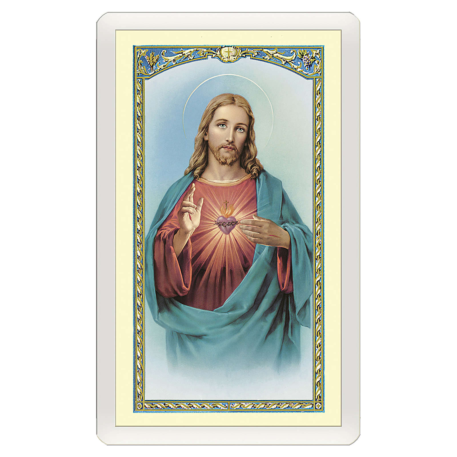 Santino Sacro Cuore di Gesù Preghiera ITA 10x5 4
