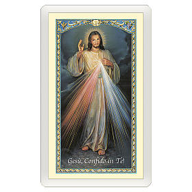Santino Gesù Misericordioso Coroncina Divina Misericordia ITA 10x5 s1