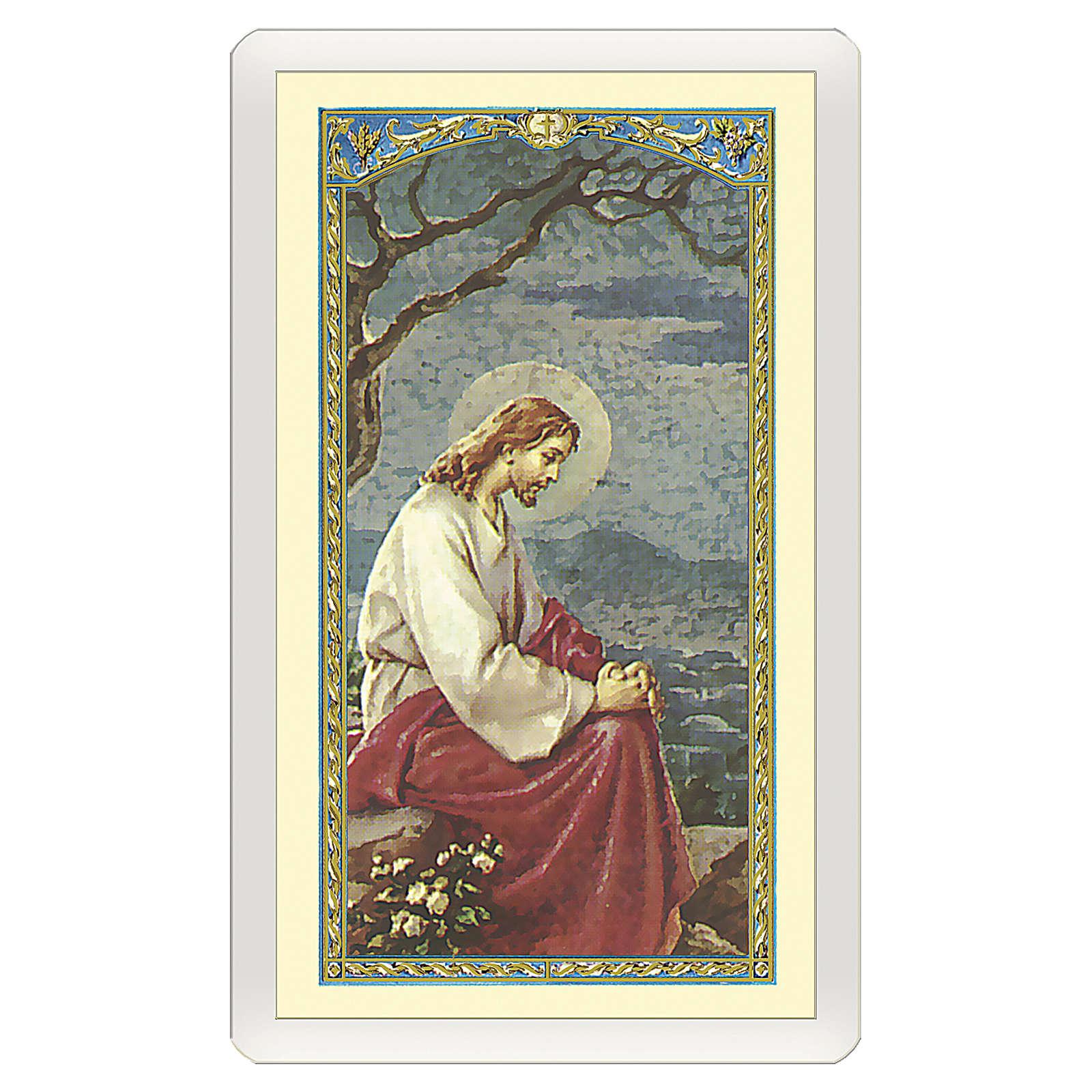Santino Gesù in preghiera sul Getzemani Atto di Dolore ITA 10x5 4