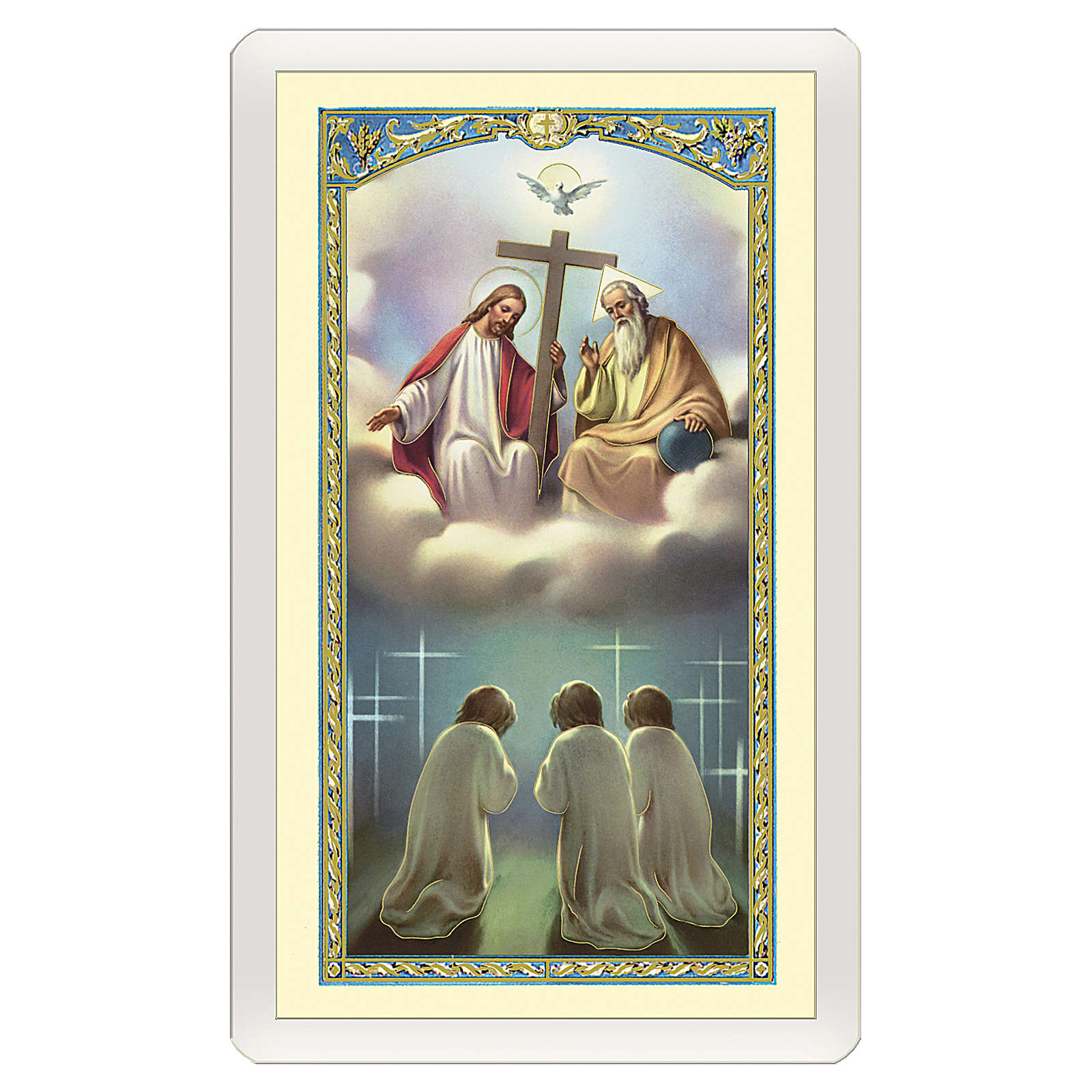 Holy card, Holy Trinity, Glory to the Father ITA 10x5 cm 4