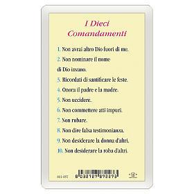 Santino Icona del Gesù Maestro Dieci Comandamenti ITA 10x5 s2