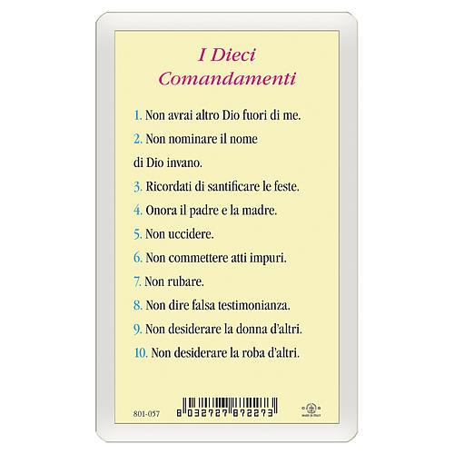 Santino Icona del Gesù Maestro Dieci Comandamenti ITA 10x5 2