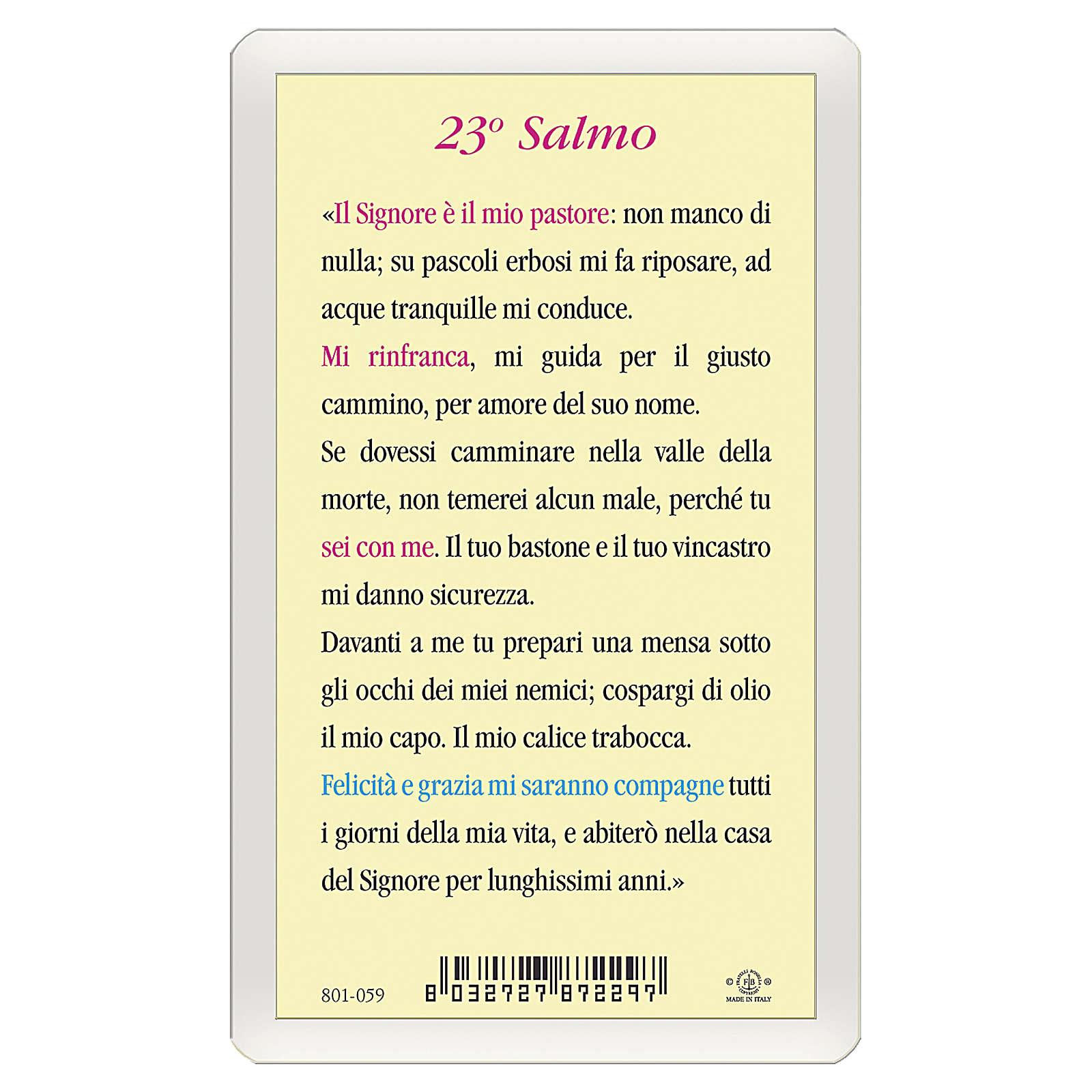 Santino Gesù Buon Pastore 23. Salmo ITA 10x5 4