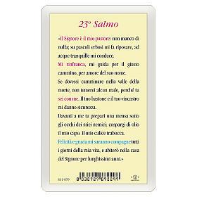 Santino Gesù Buon Pastore 23. Salmo ITA 10x5 s2