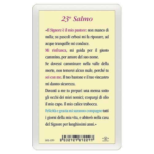 Santino Gesù Buon Pastore 23. Salmo ITA 10x5 2