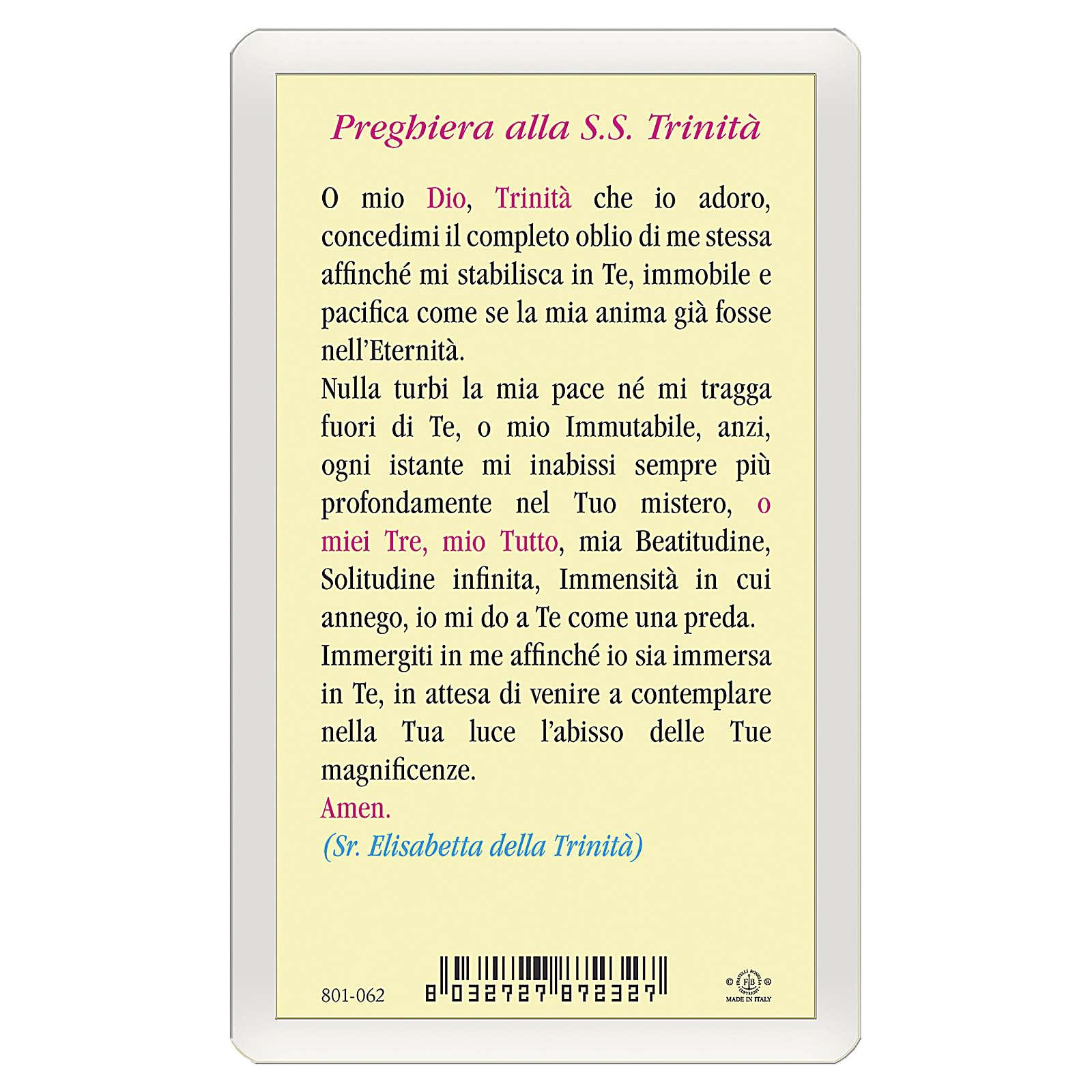 Santino Preghiera alla Santissima Trinità ITA 10x5 4