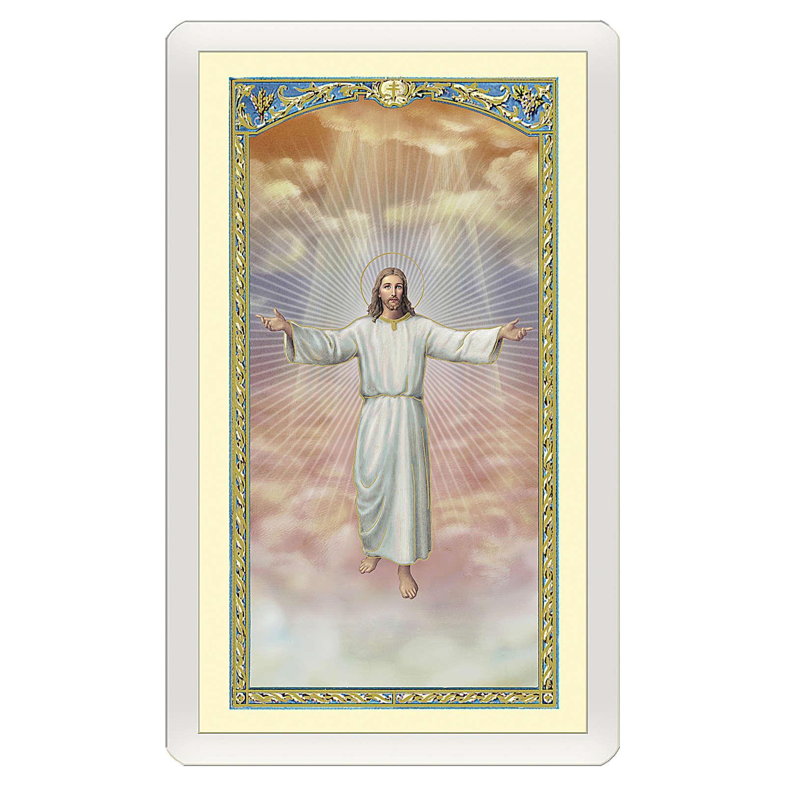 Santino Gesù che accoglie in cielo Le Beatitudini ITA 10x5 4