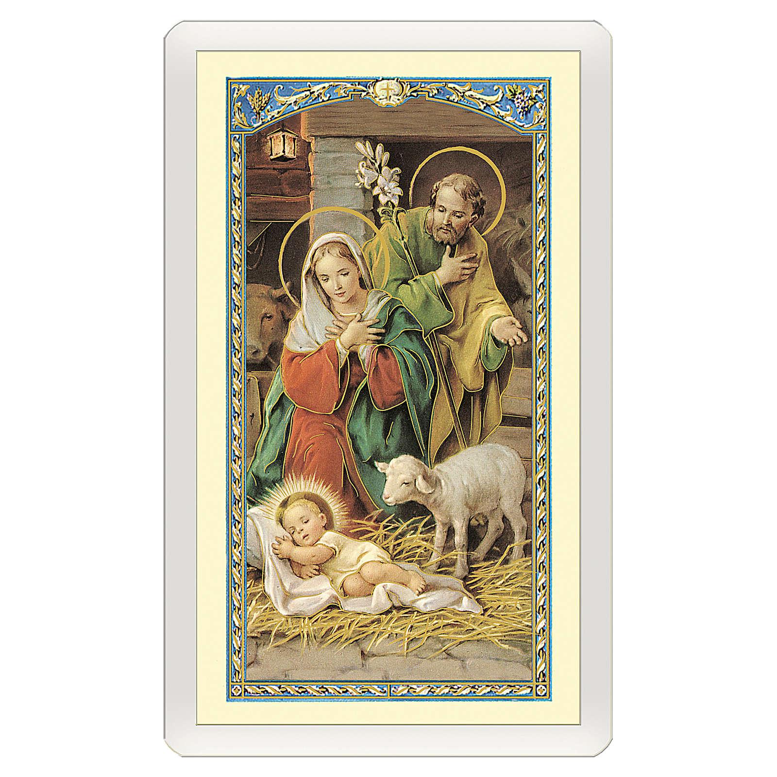 Santino Natività Inno a Gesù Bambino ITA 10x5 4