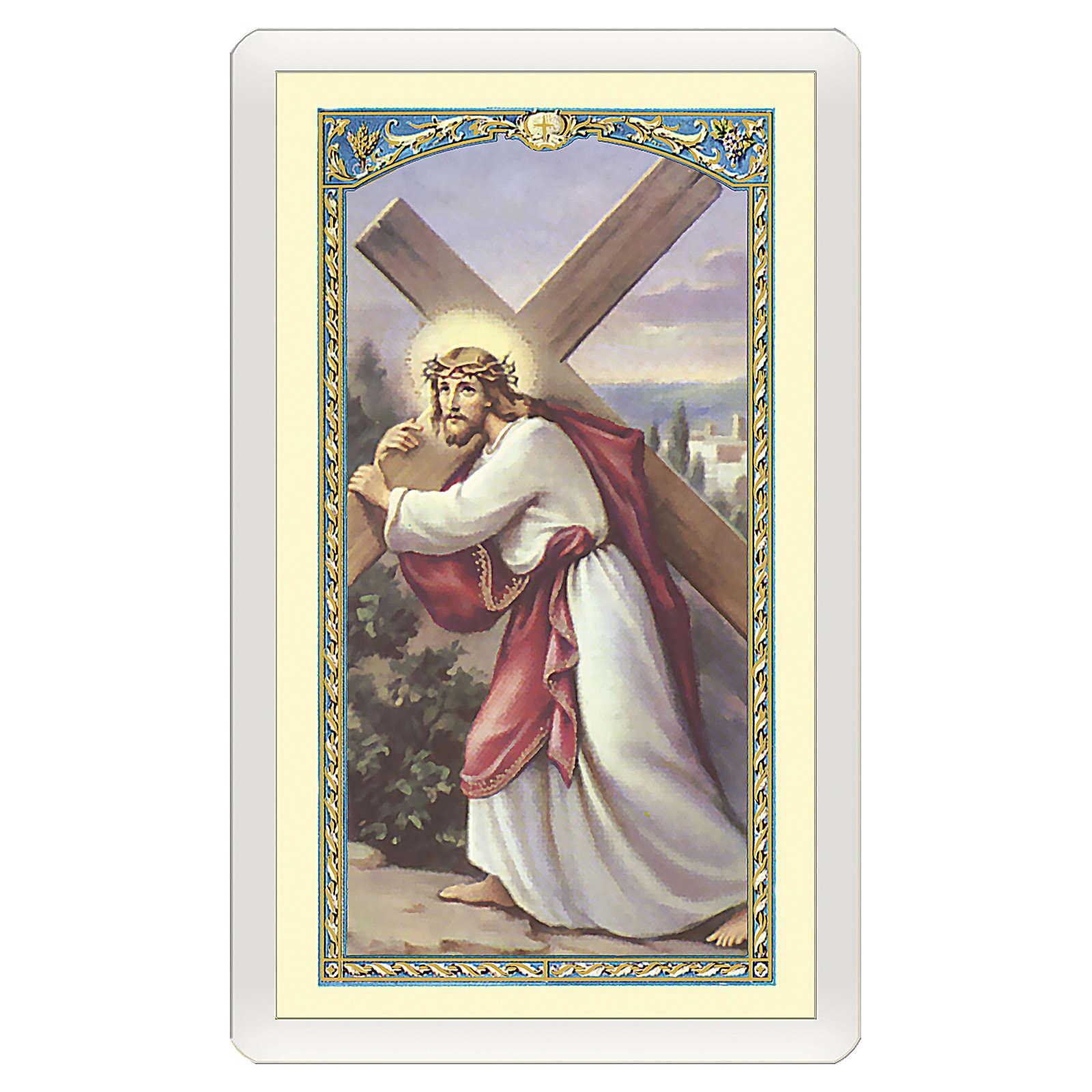 Santino Gesù che porta la Croce Nella Malattia ITA 10x5 4