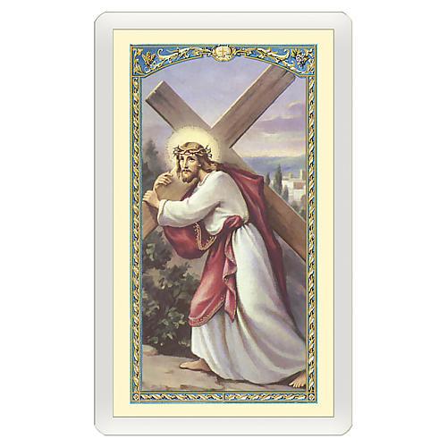 Santino Gesù che porta la Croce Nella Malattia ITA 10x5 1