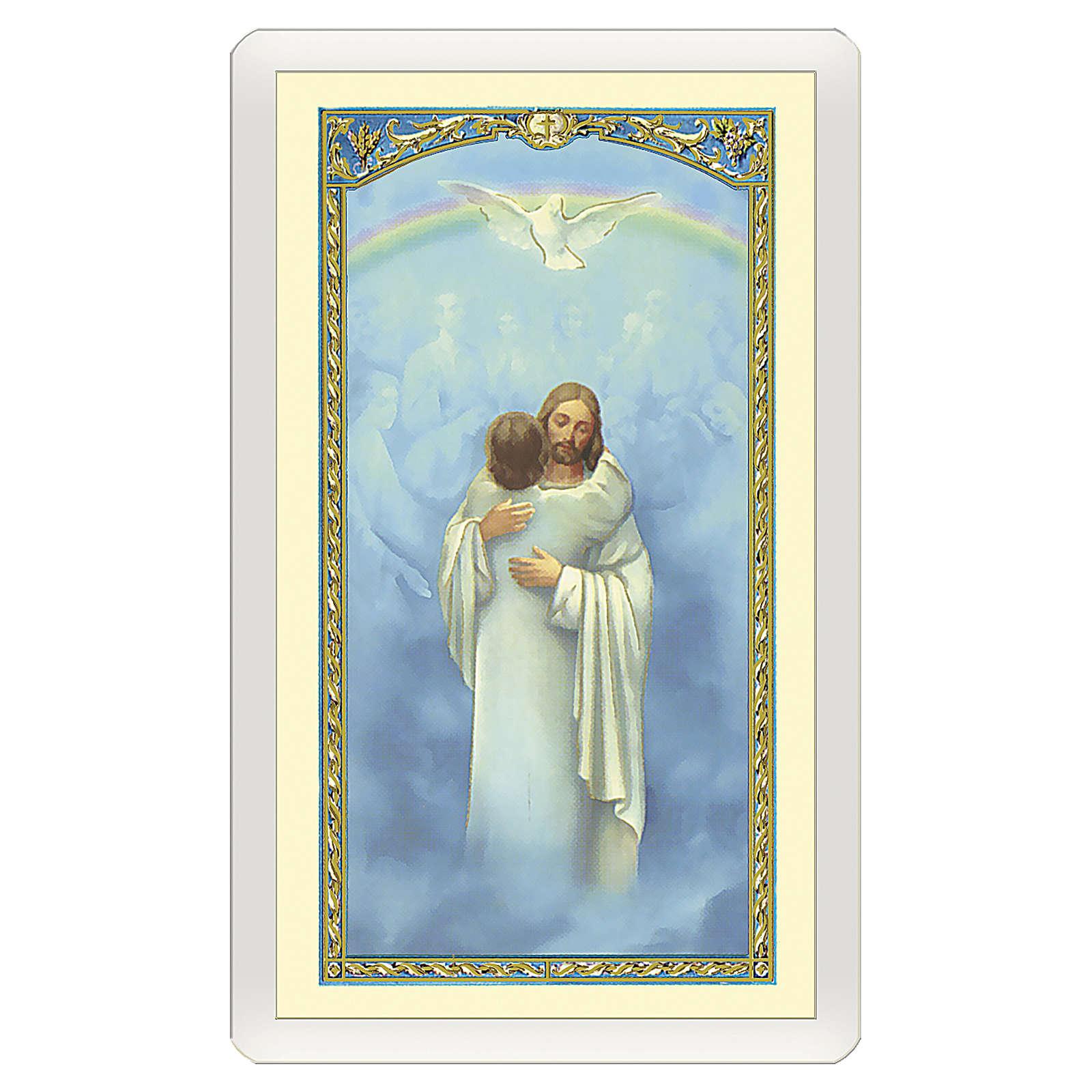 Santino Gesù che abbraccia un'Anima Io Credo, Signore ITA 10x5 4