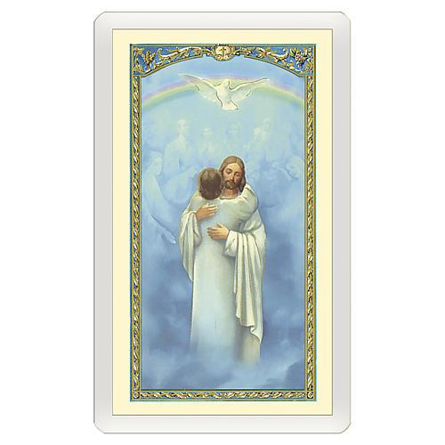 Santino Gesù che abbraccia un'Anima Io Credo, Signore ITA 10x5 1